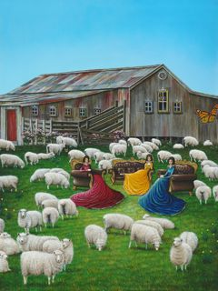 SHEARING TIME OPEN EDITION PRINT Large 500x375mm
